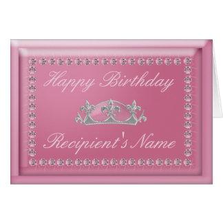 Geburtstags-Karte in den rosa Diamanten und in Karte