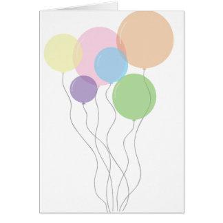 Geburtstags-Karte mit Ballonen Karte