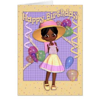 Geburtstags-Karte - niedliches kleines Mädchen