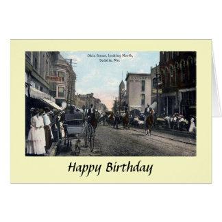 Geburtstags-Karte - Sedalia, Missouri, USA Karte