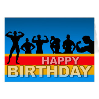 Geburtstags-Karten-Bodybuilder Karte
