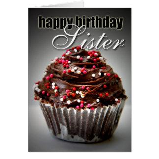 Geburtstags-kleiner Kuchen für meine Schwester Karte