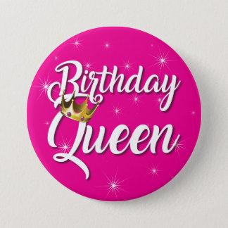 Geburtstags-Königin 3 Zoll-runder Knopf Runder Button 7,6 Cm