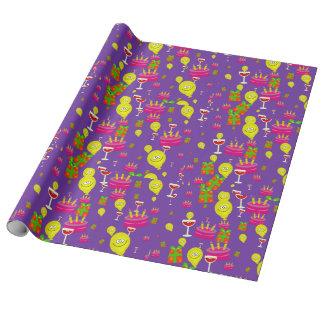 """Geburtstags-LeinenPackpapier, 30"""" x 6' Geschenkpapier"""