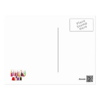 Geburtstags-Mädchen-bunte Kerzen-Collage Postkarten