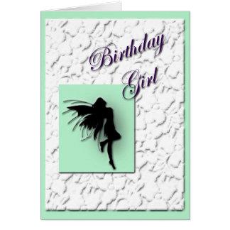 Geburtstags-Mädchen Grußkarte