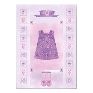 Geburtstags-Mädchen-Kuchen-Pastell 12,7 X 17,8 Cm Einladungskarte