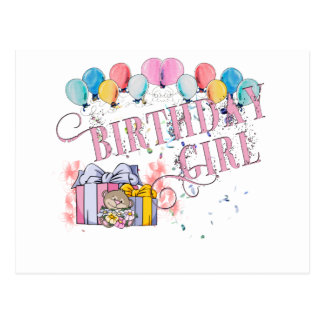 Geburtstags-Mädchen Postkarte