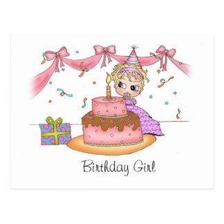 Geburtstags-Mädchen - Postkarten