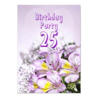Geburtstags-Party Einladung 25 Jahre alt
