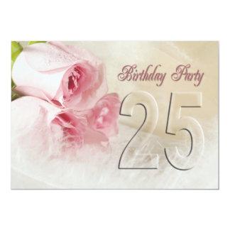 Geburtstags-Party Einladung für 25 Jahre