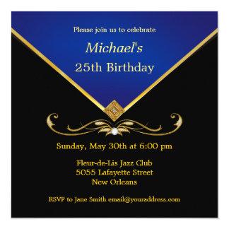 Geburtstags-Party Einladungen der Männer blaue