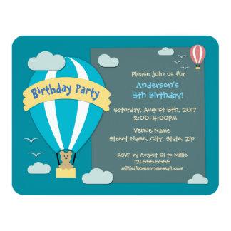 Geburtstags-Party-Heißluft-Ballon 10,8 X 14 Cm Einladungskarte