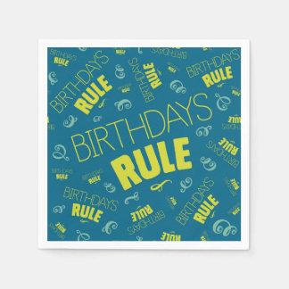 Geburtstags-Regel Serviette