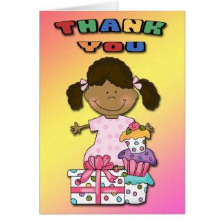 Geburtstags-Schlag-Mädchen B danken Ihnen Karten