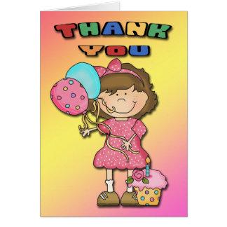 Geburtstags-Schlag-Mädchen danken Ihnen Karten