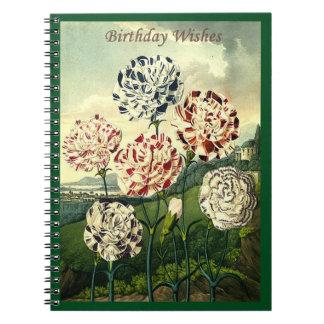 Geburtstags-Wünsche - gestreifte Gartennelke Notizblock
