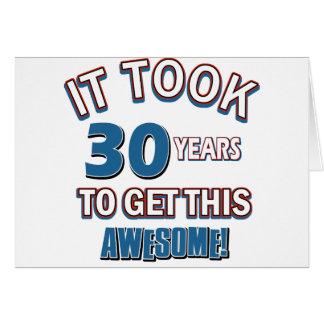 Geburtstagsentwürfe mit 30 Jährigen Karte