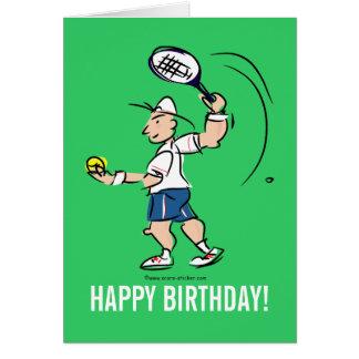 Geburtstagsgrußkarte für Tennisspieler Grußkarte