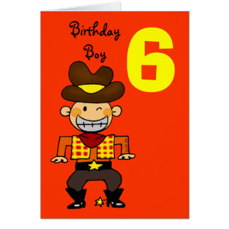 Geburtstagsjunge Mit 6 J228hrigen Karte