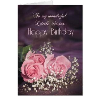 Geburtstagskarte für kleine Schwester mit rosa Karte