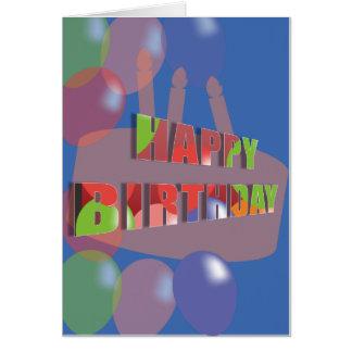 Geburtstagskarte mit Ballonen Karte