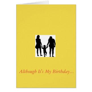 Geburtstagskarte, zum Ihrer Eltern zu danken Karte