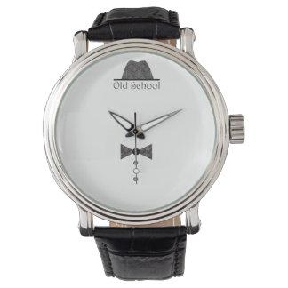 Geckiger Vintager alte Schulherr-elegantes nobles Uhr
