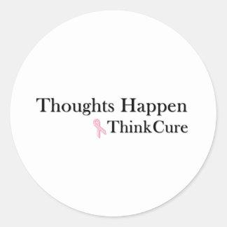 Gedanken geschehen denken Heilung Runder Aufkleber