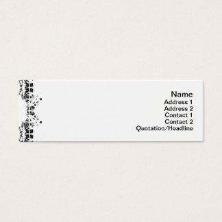 Gedrehte Alternative der Quallen-WGB Gitter Mini-Visitenkarten
