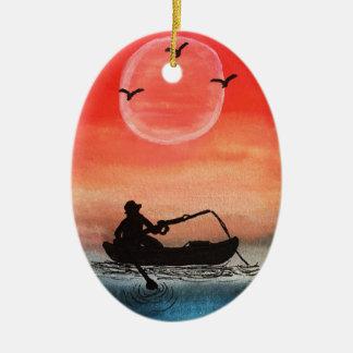 Geduld und Einsamkeit Keramik Ornament