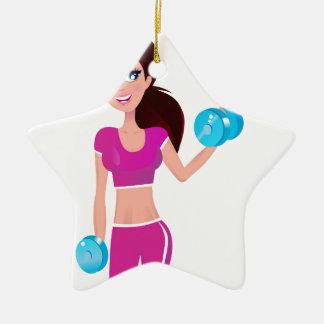 GEEIGNETES Mädchen: Rosa Ausgabe kreative T-Shirts Keramik Stern-Ornament