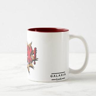 GEEK! - Galaxie Geek Zweifarbige Tasse