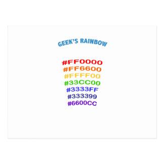 Geek' s Rainbow Postkarte