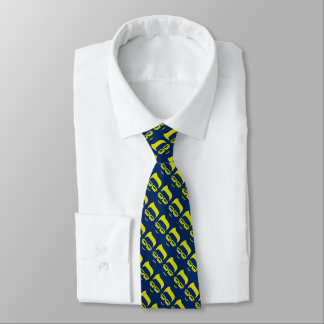 Geek-Seiten-Gesichts-Krawatte Krawatte
