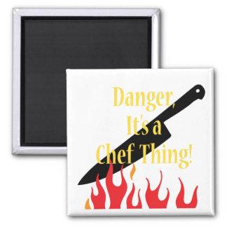 Gefahr, eine Kochssache Quadratischer Magnet