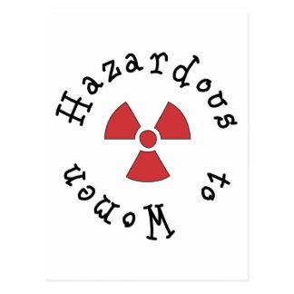 Gefährlich für Frauen Postkarte