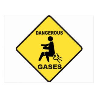 Gefährliche Gase Postkarte