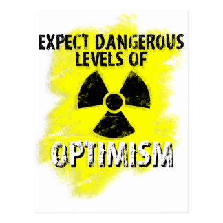 gefährlicher Optimismus Postkarte