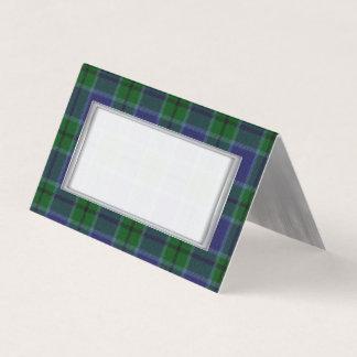 Gefaltete Platzkarte Clan-Scotts Hochzeit