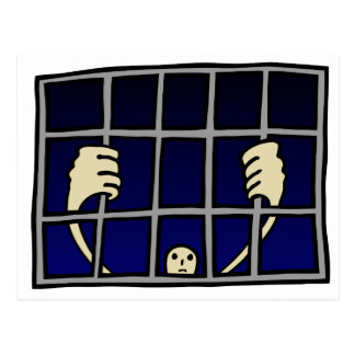 Gefangener Postkarte