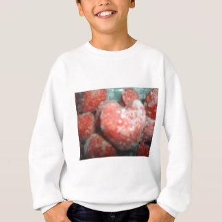 geformte Erdbeere des Herzens Sweatshirt