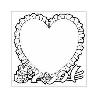 Geformte Grenze des Herzens für Ihre Mitteilung Gummistempel