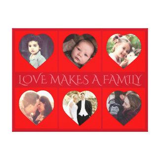 Geformtes Familien-Foto des personalisierten Leinwanddruck