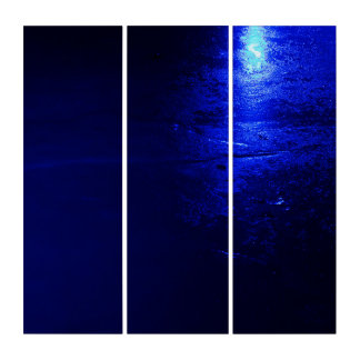 Gefrorene blaue AcryliPrint®HD Triptychon