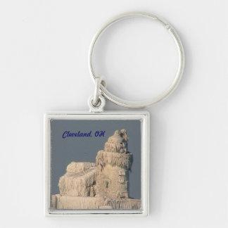 Gefrorene Leuchtturm-Andenken Keychain Clevelands Schlüsselanhänger