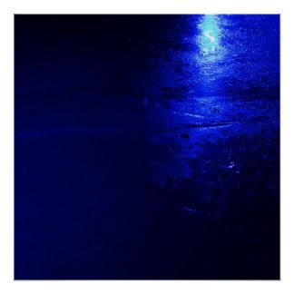 """Gefrorenes Blau 20"""" x 20"""", Plakat-Papier Poster"""