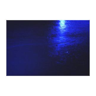 """Gefrorenes Blau 60 x 40, 1,5"""", Gespannte Galeriedrucke"""