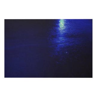 """Gefrorenes Blau 6"""""""" hölzerne Kunst der Wand-x24 Holzleinwand"""