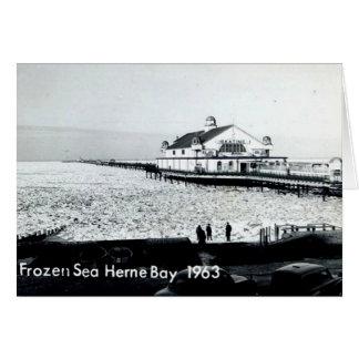 Gefrorenes Meer an Herne-Bucht - Kent -1963 Karte